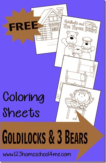 free goldilocks coloring pages - photo#33
