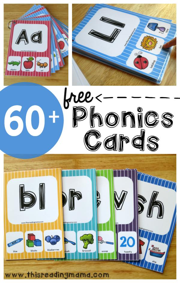 Free 60 Phonics Cards Free Homeschool Deals