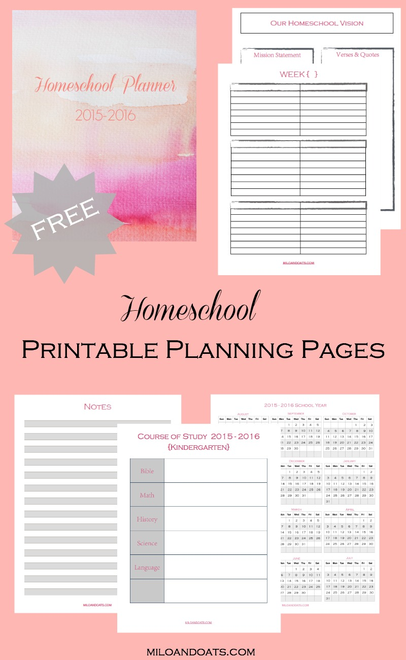 FREE Homeschool Planner Pages | Free Homeschool Deals