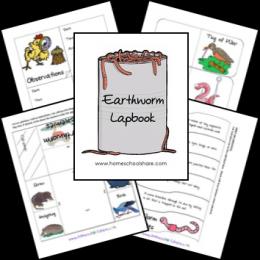 FREE Earthworm Lapbook