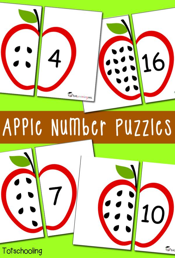 Classroom Decoration Dr Seuss ~ Free apple number puzzles homeschool deals
