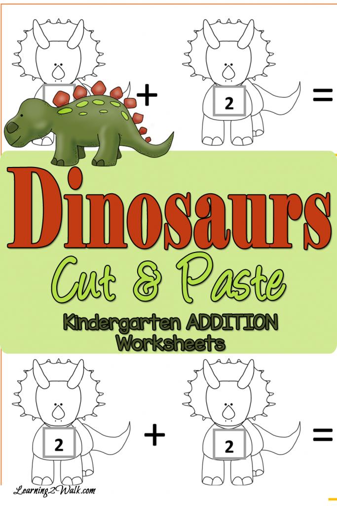Cut And Paste Addition Worksheets For Kindergarten