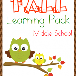FREE Fall Themed Middle School Learning Pack
