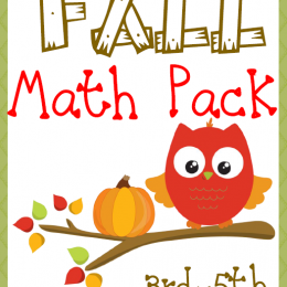 FREE Fall Math Pack