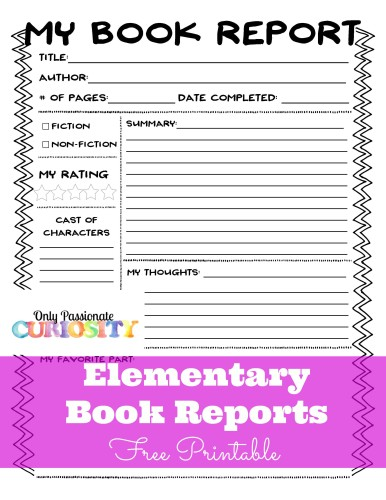 Free Book Report Forms  Free Homeschool Deals