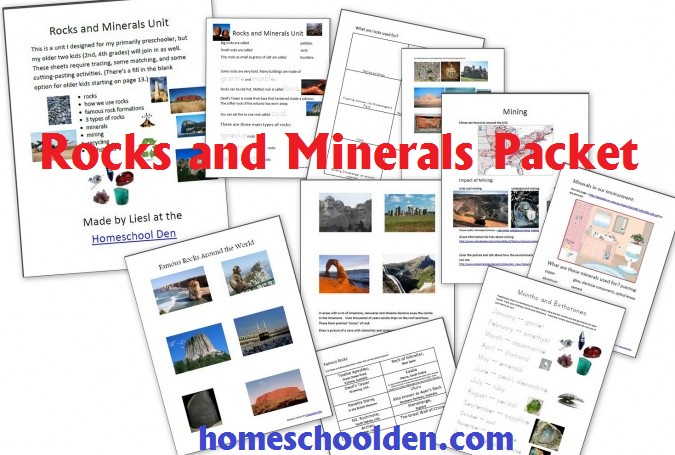free rocks and minerals pack free homeschool deals. Black Bedroom Furniture Sets. Home Design Ideas