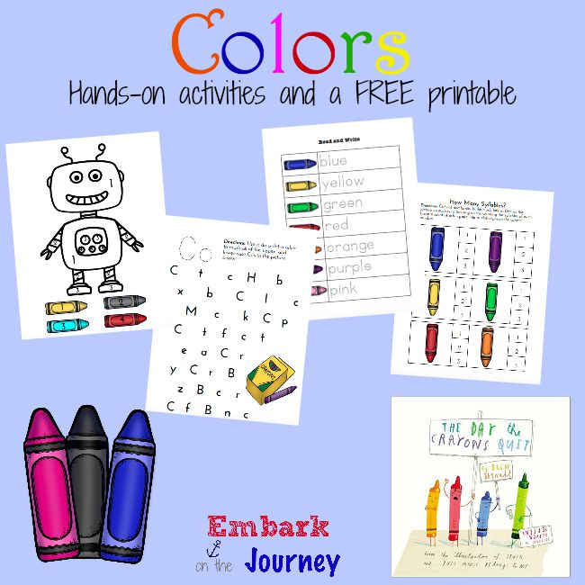 free colors hands on activities and printables free homeschool deals. Black Bedroom Furniture Sets. Home Design Ideas