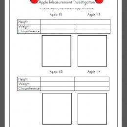 FREE Apple STEM Measurement Printable