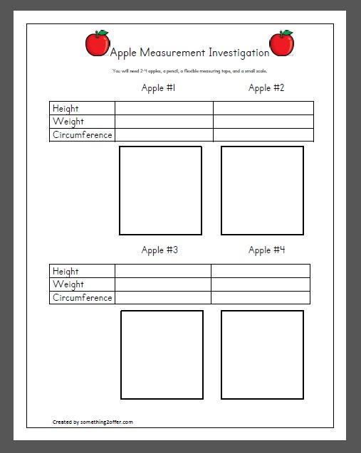Free Apple Stem Measurement Printable Free Homeschool