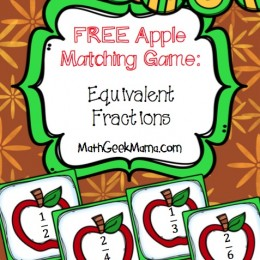 FREE Apple Matching Math Game