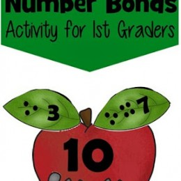 FREE Apple Themed Number Bonds Activity