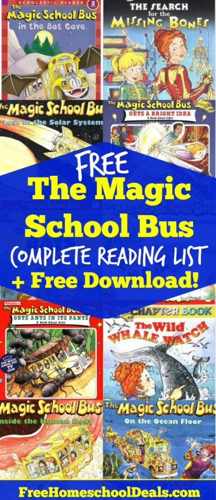 FREE MAGIC SCHOOL BUS COMPLETE READING LIST