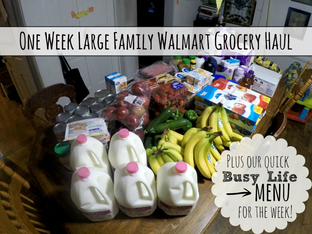 One Week Large Family Walmart Grocery Haul + Busy Life Menu!