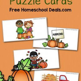 FREE PUMPKIN PUZZLE CARDS (instant download)