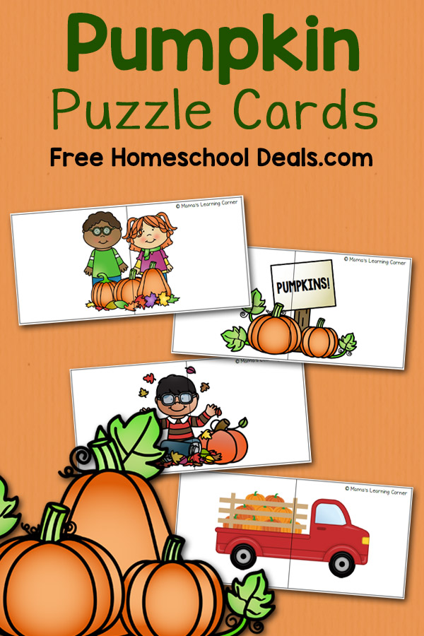 FREE PUMPKIN PUZZLE CARDS (instant download)   Free ...