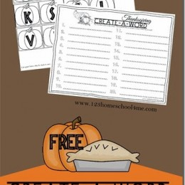 FREE Create-a-Word Thanksgiving Spelling Printable