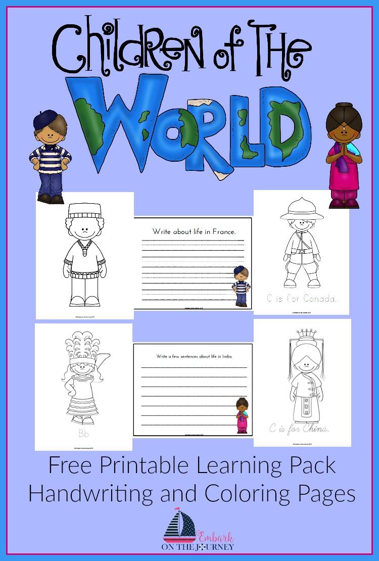 FREE Children of the World Printable Free Homeschool Deals