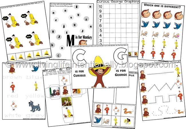 Free Curious George Printables Free Homeschool Deals