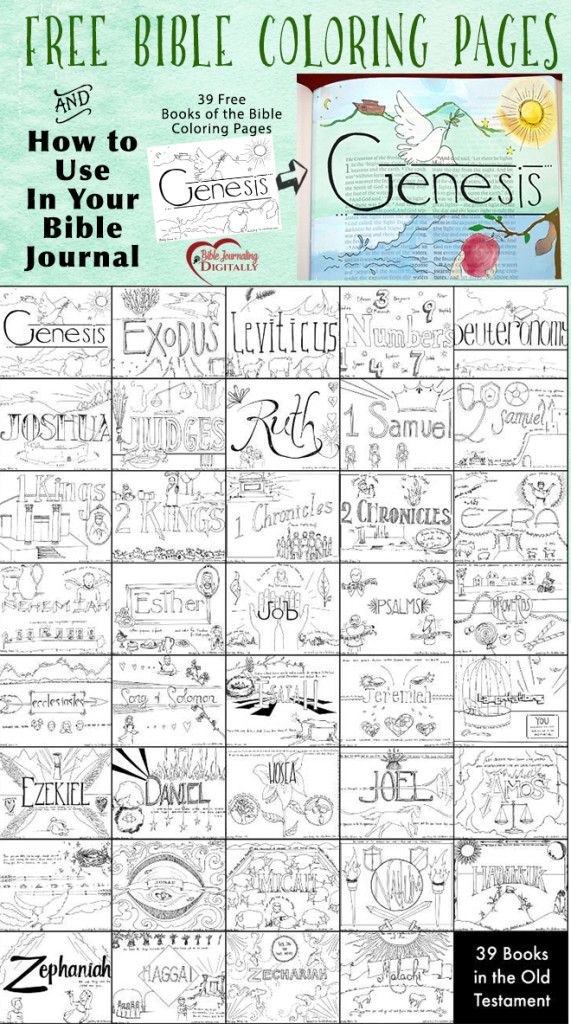 FREE Books of the Bible Coloring Pages Free Homeschool