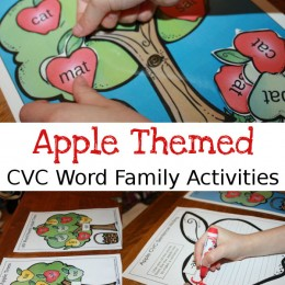 FREE Apple Themed CVC Printables