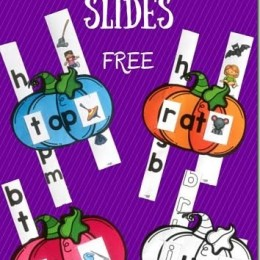 FREE Pumpkin Word Family Slider Printables