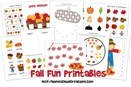 FREE Fall Learning Printables | Free Homeschool Deals