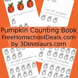 FREE PUMPKIN COUNTING BOOK (instant download)