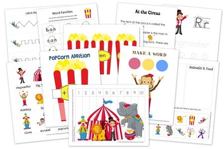 FREE Circus Printables