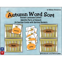 FREE Parts of Speech Autumn Word Sort