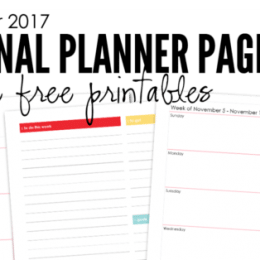 FREE November Planning Pages