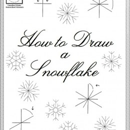 Free How to Draw a Snowflake Lesson
