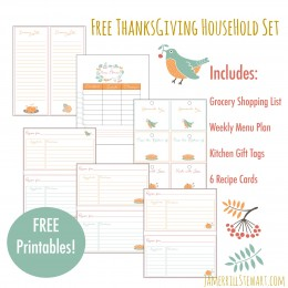 FREE Thanksgiving Household Printables Set: Grocery Shopping List, + More!