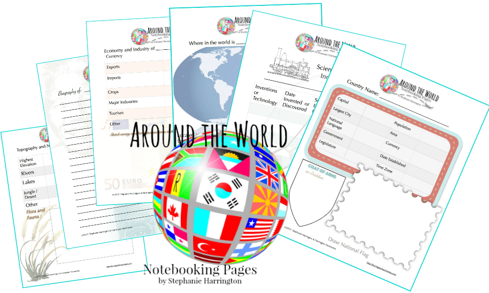 free around the world notebook pages free homeschool deals