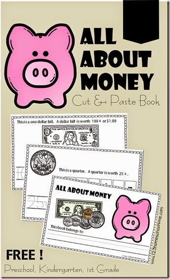 free all about money printables pack free homeschool deals. Black Bedroom Furniture Sets. Home Design Ideas