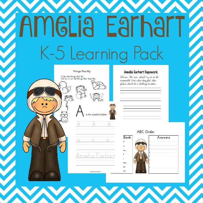 FREE Amelia Earhart Pack