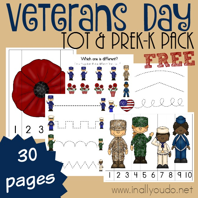 Free Veterans Day Tot Prek K Pack Free Homeschool Deals