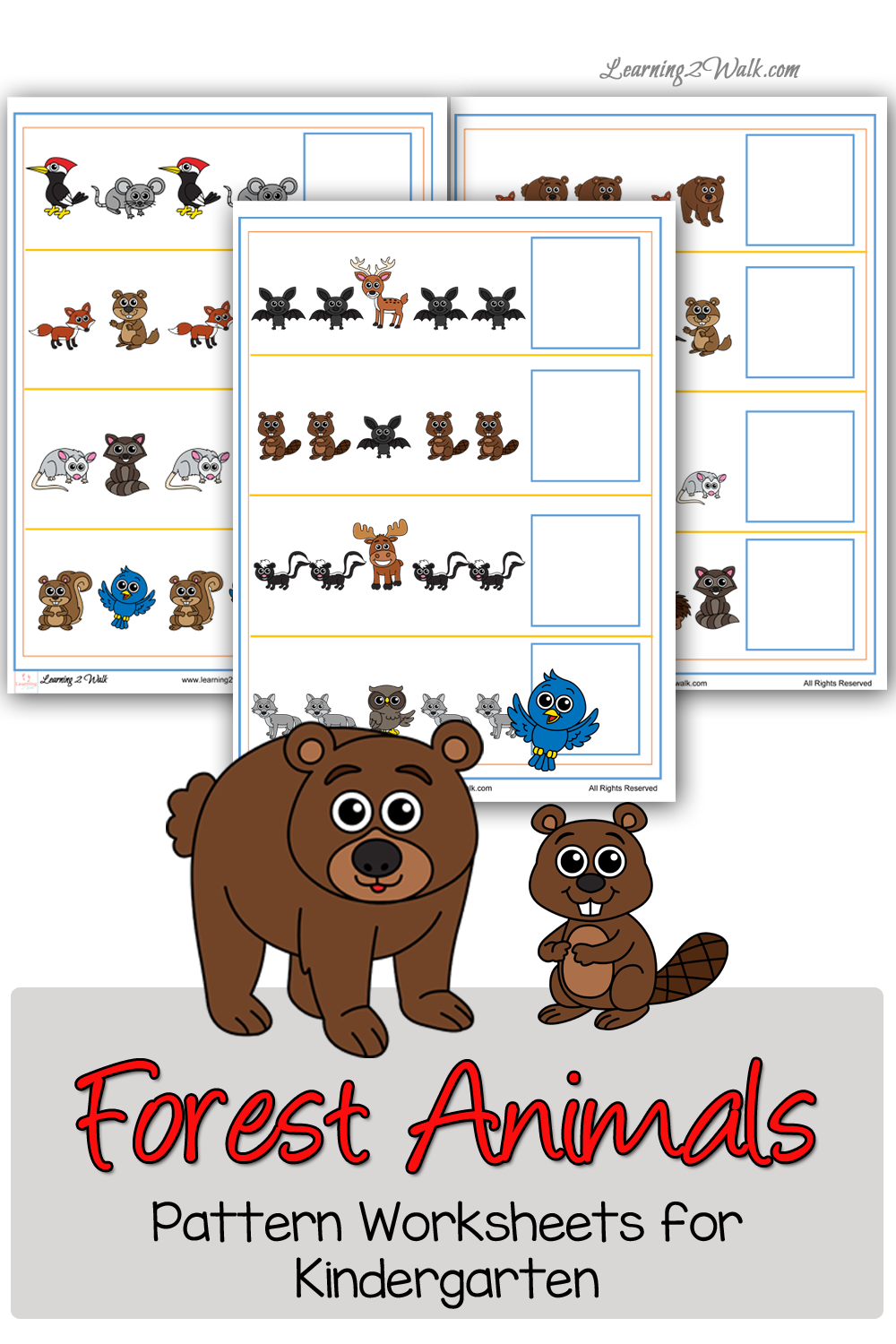 free forest animals prek pattern pack free homeschool deals. Black Bedroom Furniture Sets. Home Design Ideas