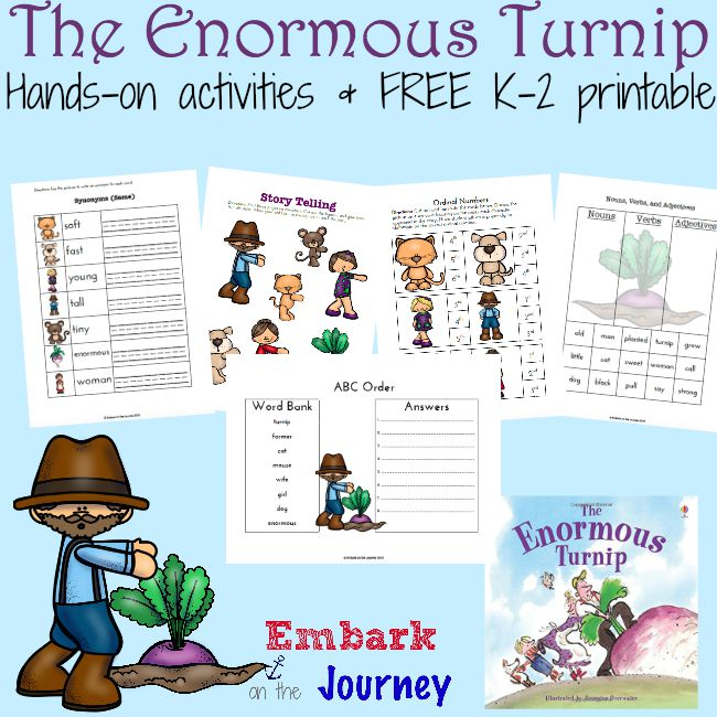 FREE The Enormous Turnip Activities and Printables | Free ... on Gigantic Turnip Sequencing Worksheets