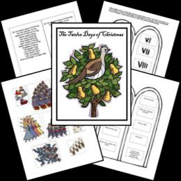 FREE 12 Days of Christmas Lapbook