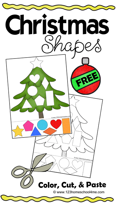 Free Christmas Shapes Printable Free Homeschool Deals