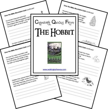 FREE Hobbit Copywork