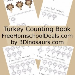 FREE TURKEY COUNTING BOOK (Instant Download)