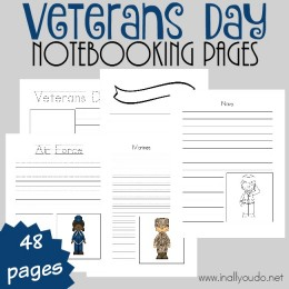 FREE Veterans Day Notebooking Pages (48 Pages!)