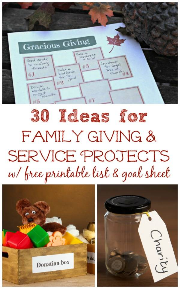 Free gracious giving printable with ideas for family for Gracious home promo code