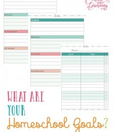 FREE Homeschool Goals Planning Printables Pack