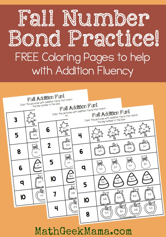 FREE Number Bond Math Pages Free Homeschool Deals