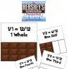 FREE Hershey math Fractions Cards