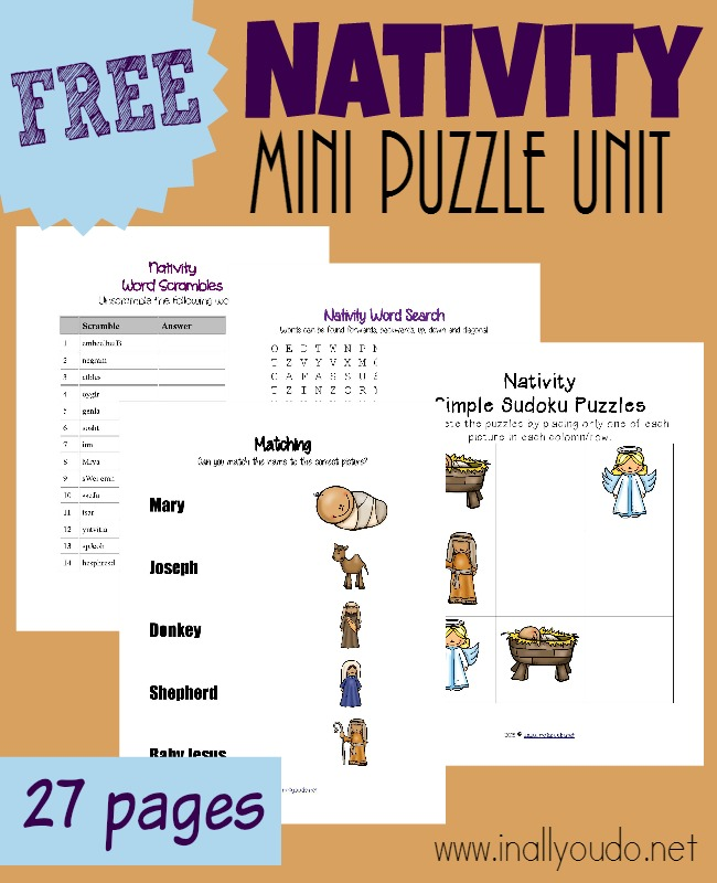 FREE Nativity Puzzle Unit Free