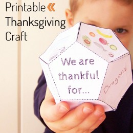 FREE Printable 3D Craft for Thanksgiving