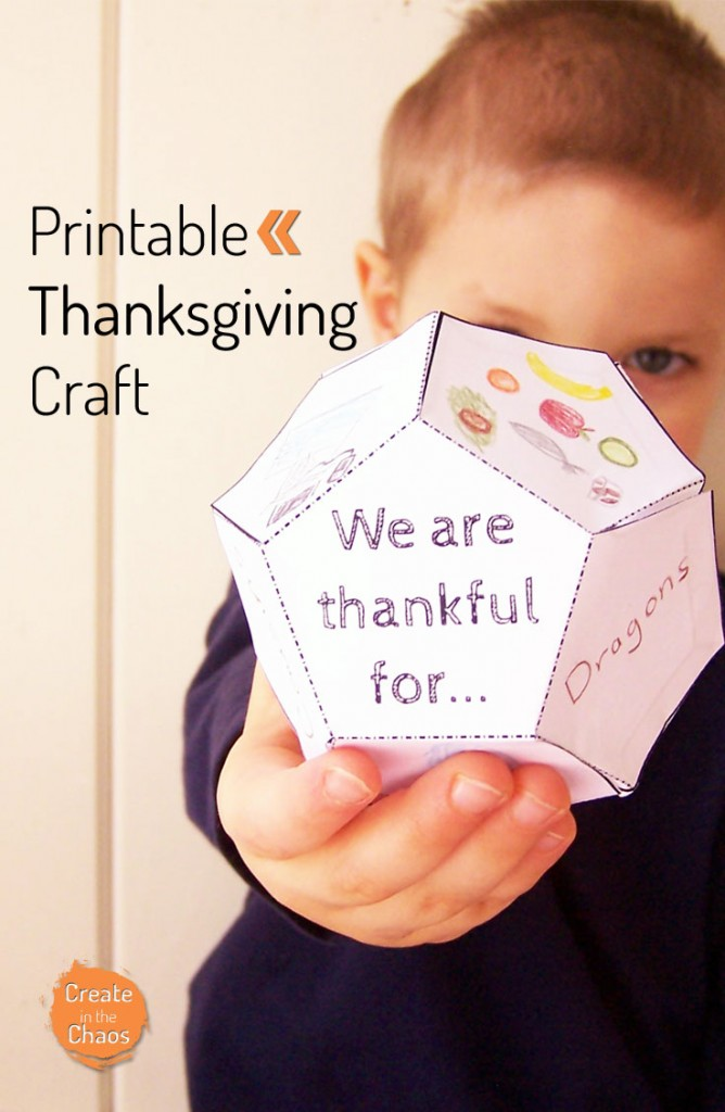 Gargantuan image within printable thanksgiving craft